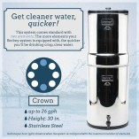 The versatile large size Crown Berkey system from Berkey Water Filter Canada is the ideal system for use with medium to large groups, at home, churches, hospitals, orphanages, outdoor activities or during unexpected emergencies