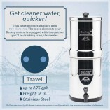 Berkey Water Filter Canada presents The Travel Berkey,a stainless steel portable water purification system which is ideal for travel, camping, home, disaster or other emergency use.